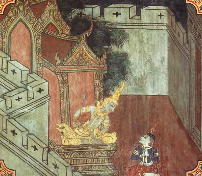 temple painting of Pabbatupatthara Jataka