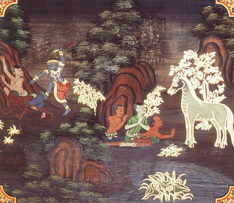 temple painting of Valahassa Jataka