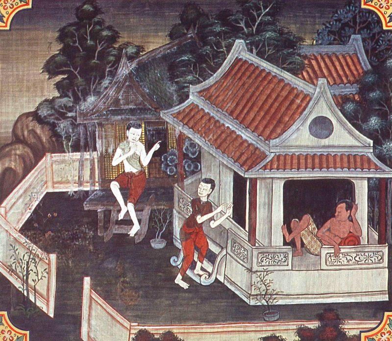 temple painting of Gahapati Jataka