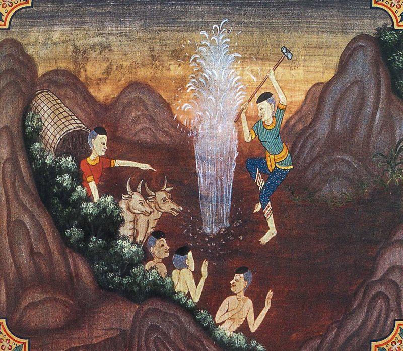 painting of Vannupatha Jataka