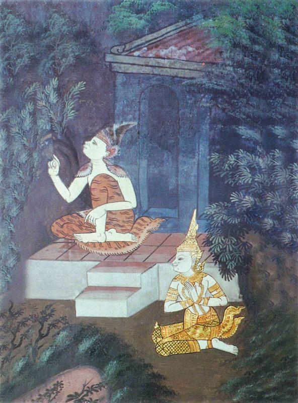 temple painting of Assaka Jataka
