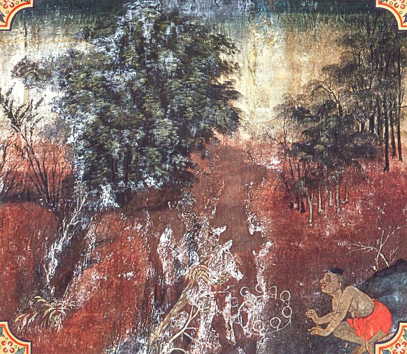 temple painting of Kakkara Jataka