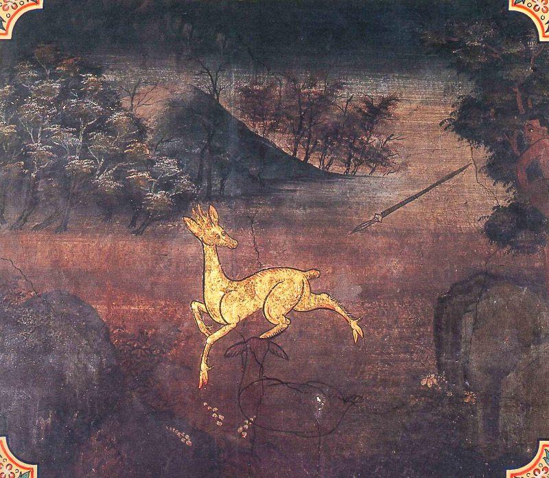 painting of Kurunga Jataka