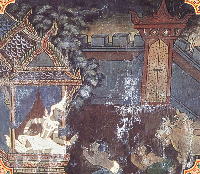 temple painting of Somadatta Jataka