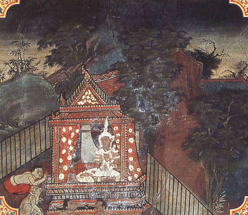 temple painting of Garahita Jataka
