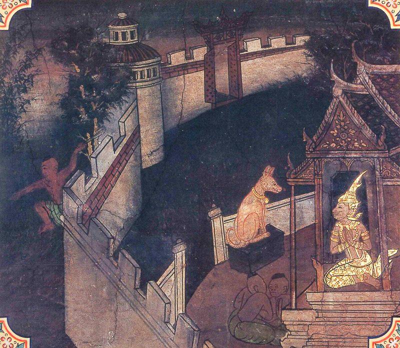 painting of Kukkura Jataka