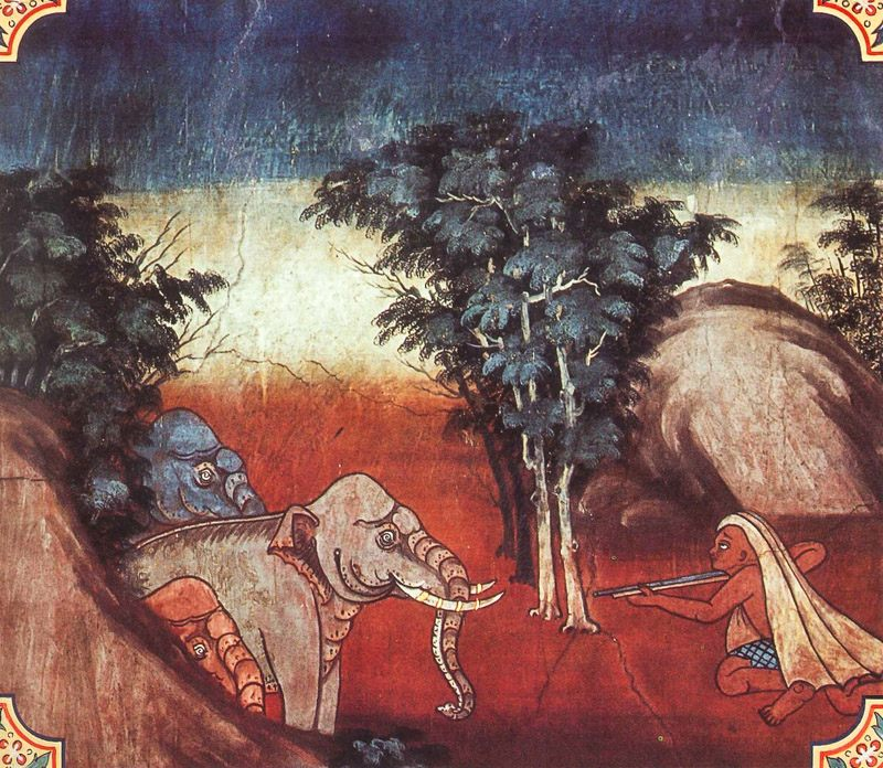 temple painting of Kasava Jataka