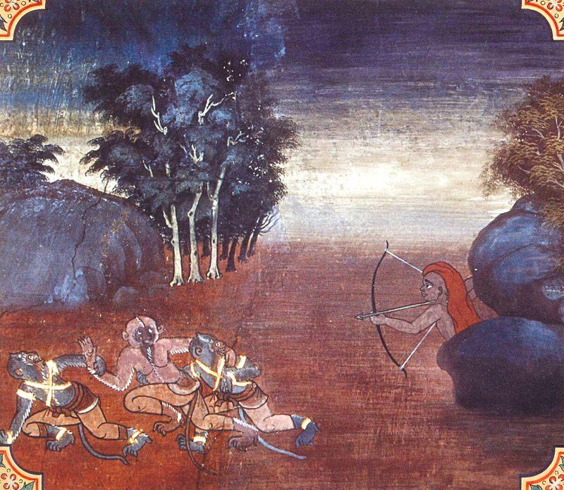 temple painting of Cula-Nandiya Jataka