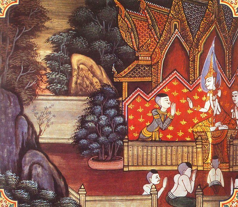 temple painting of Puta-Bhatta Jataka