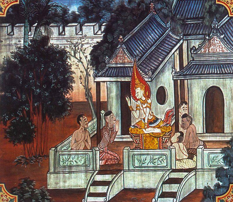 temple painting of Khanti-Vannana Jataka