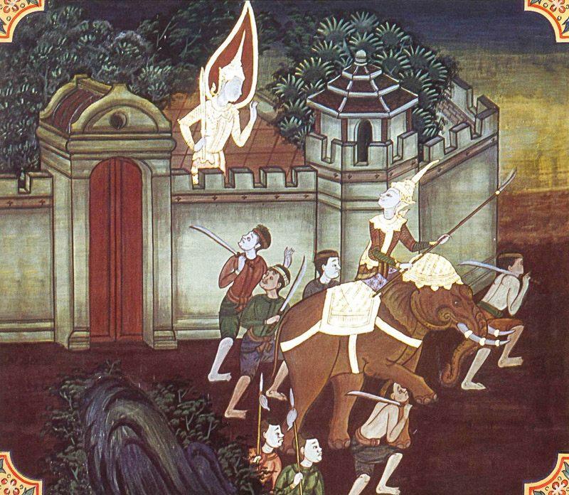 temple painting of Dutiya-Palayi Jataka