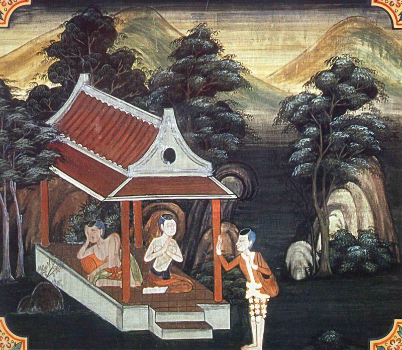 temple painting of Vina-Thuna Jataka