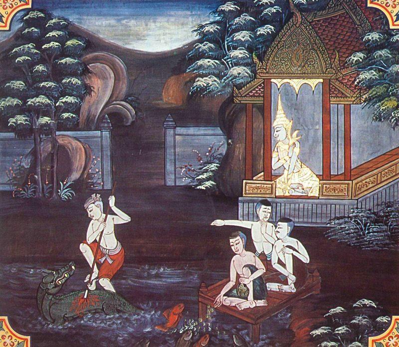 temple painting of Vikannaka Jataka