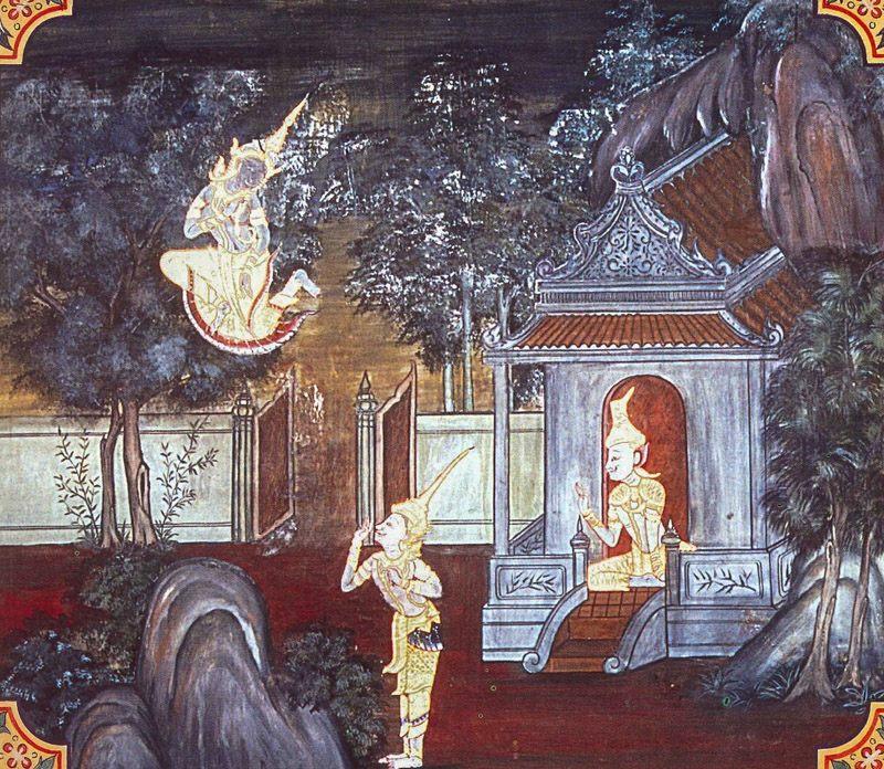 temple painting of Asitabhu Jataka