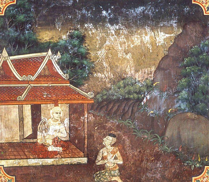 temple painting of Vaccha-Nakha Jataka