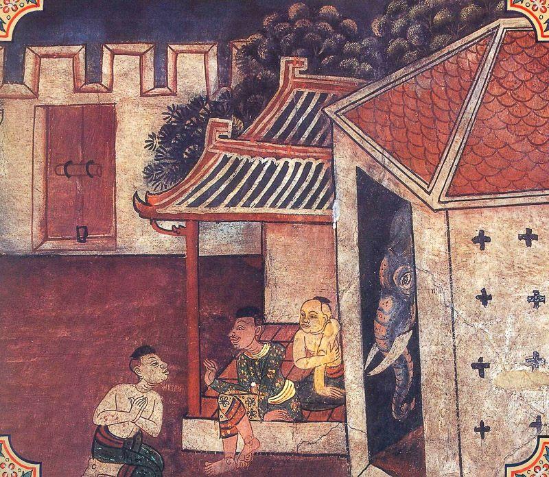 painting of Mahilamukha Jataka
