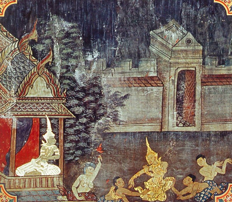 temple painting of Culla-Palobhana Jataka