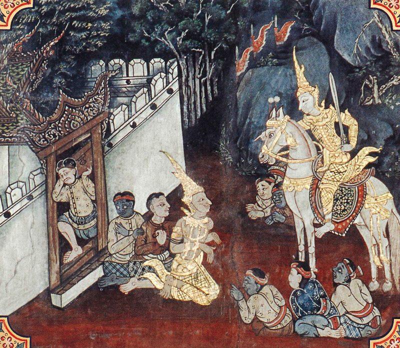 temple painting of Seyya Jataka
