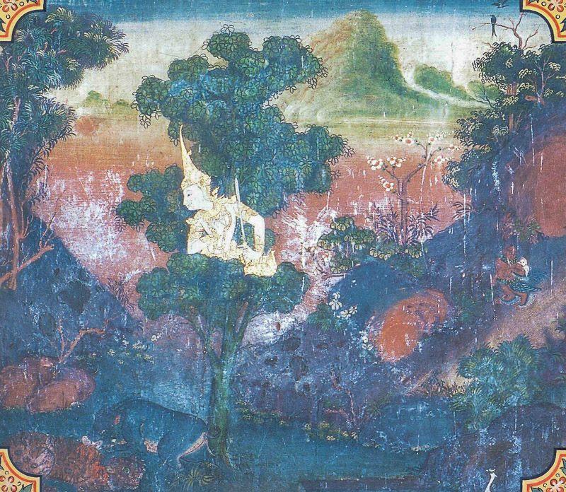 temple painting of Vaddhaki-Sukara Jataka