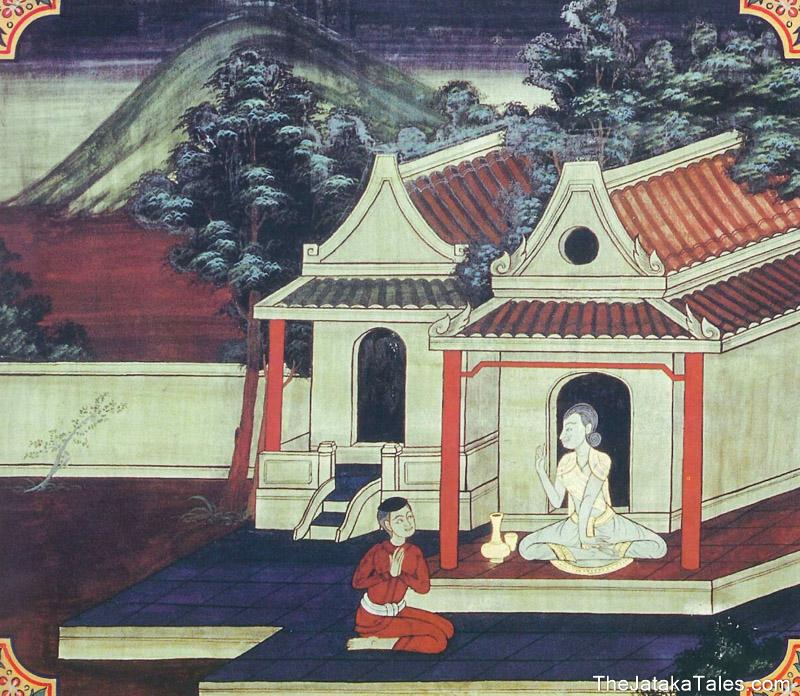 temple painting of Labha-Garaha Jataka