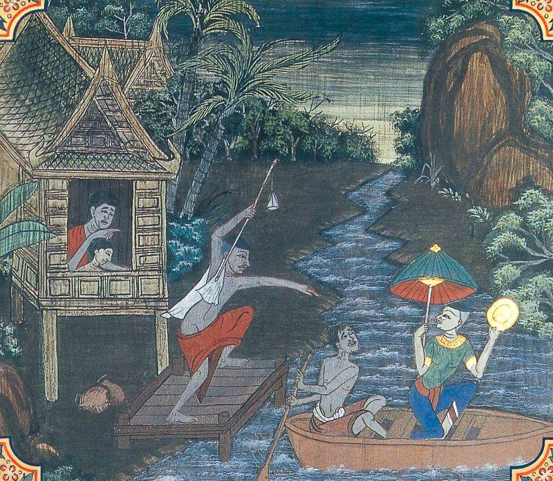 painting of Serivanija Jataka