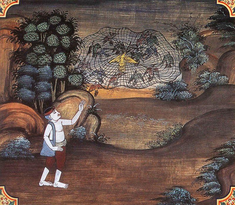 painting of Sammodamana Jataka
