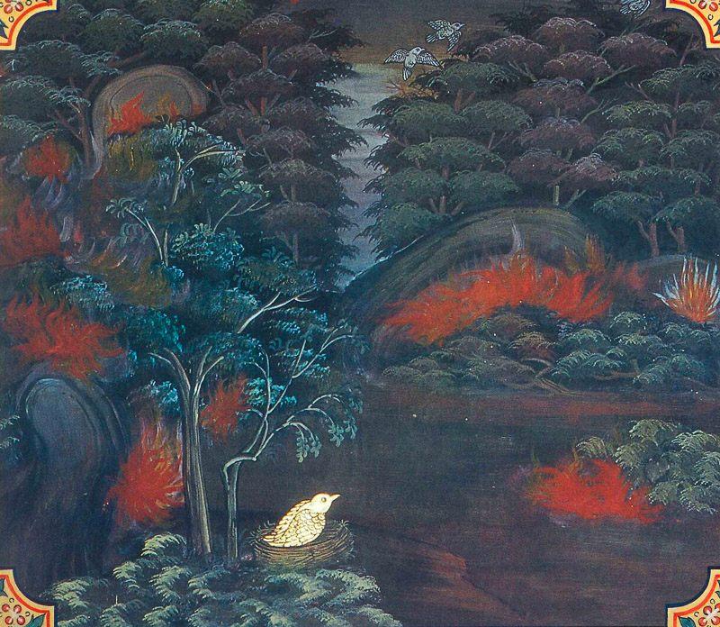 painting of Vattaka Jataka