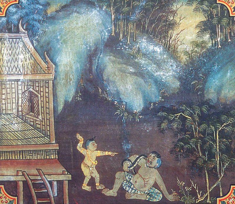 temple painting of Saliya Jataka