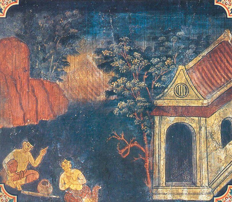 temple painting of Nanda Jataka