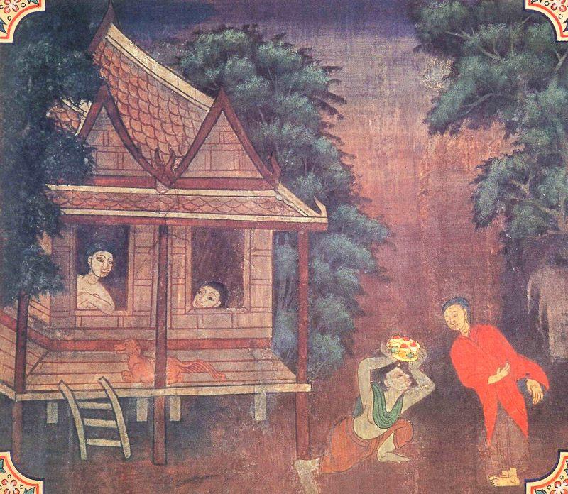 temple painting of Khadirangara Jataka