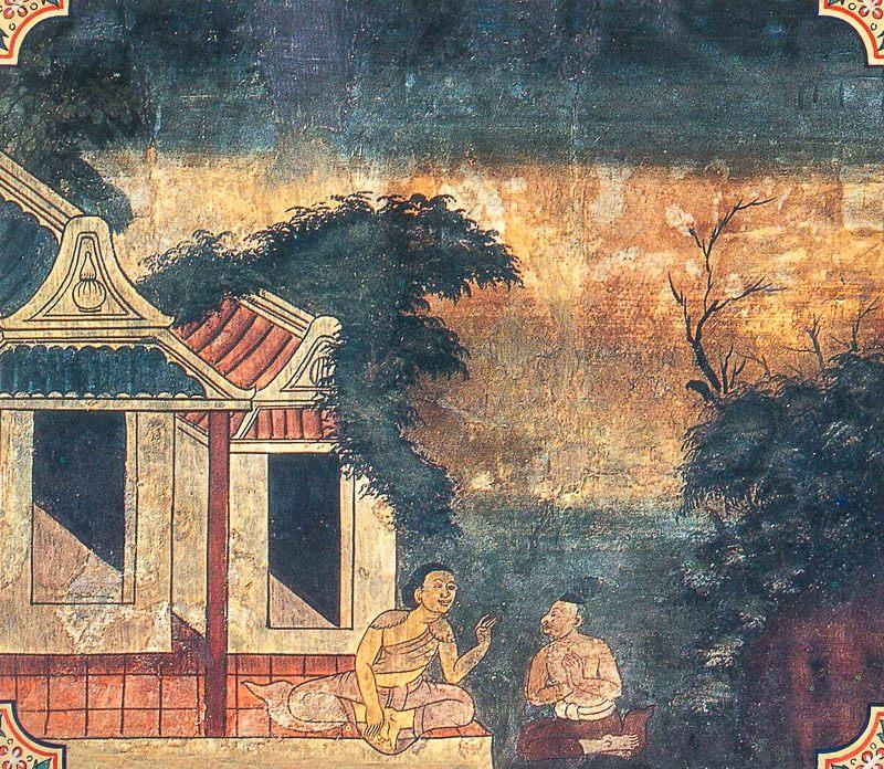 temple painting of Losaka Jataka