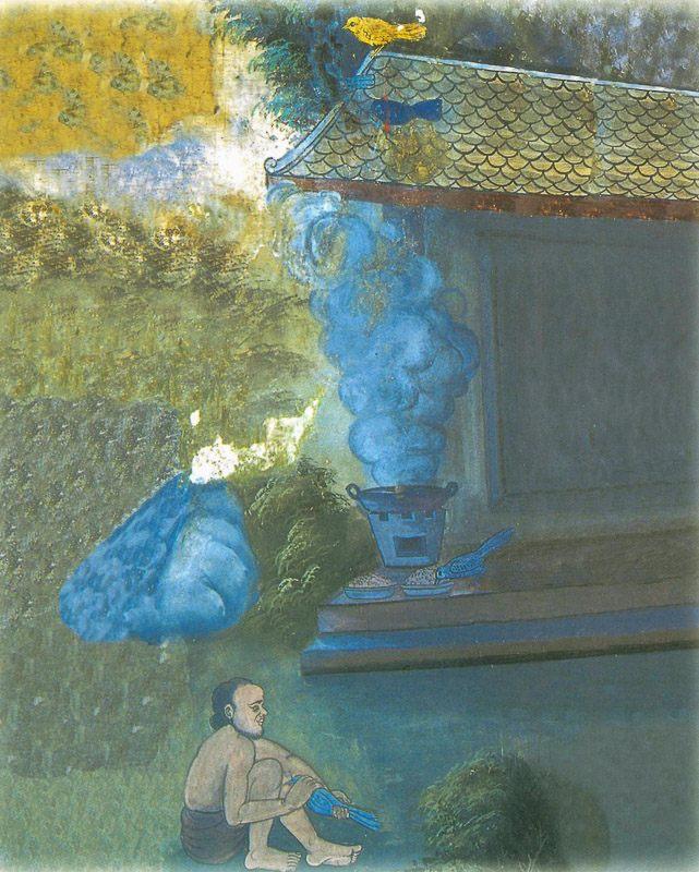 temple painting of Kapota Jataka