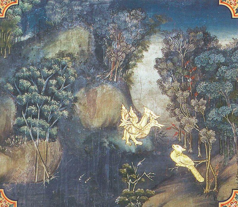 temple painting of Mahasuka Jataka