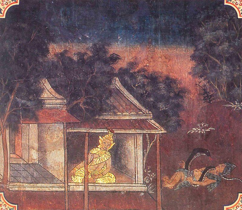 painting of Veluka Jataka