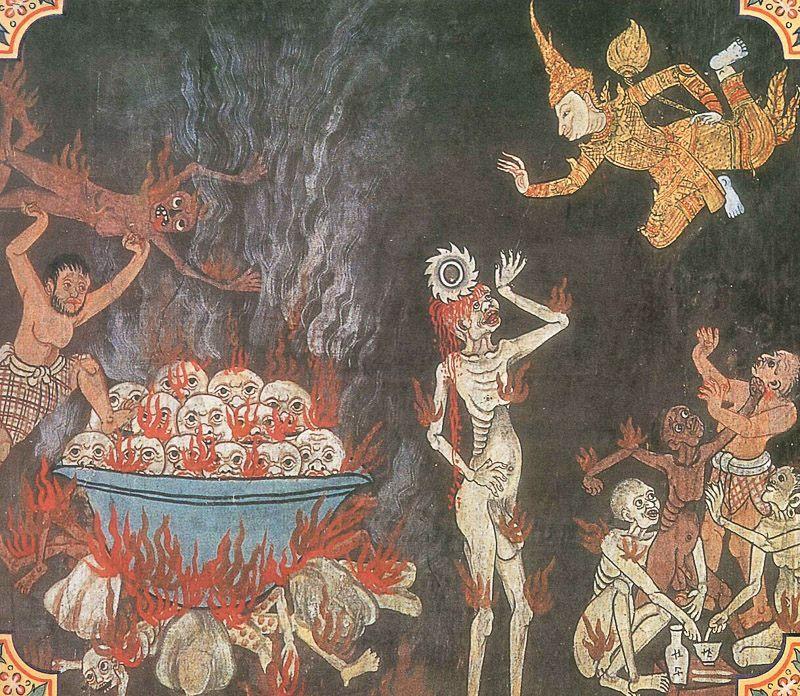 temple painting of Catu-Dvara Jataka