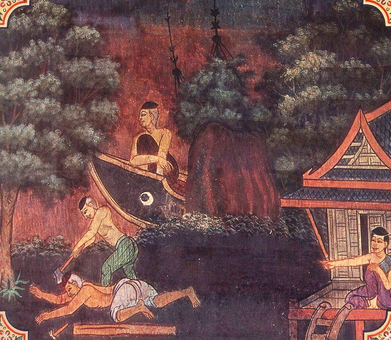painting of Makasa Jataka