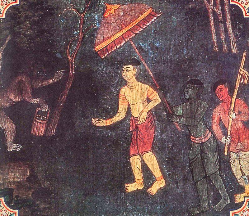 painting of Aramadusaka Jataka