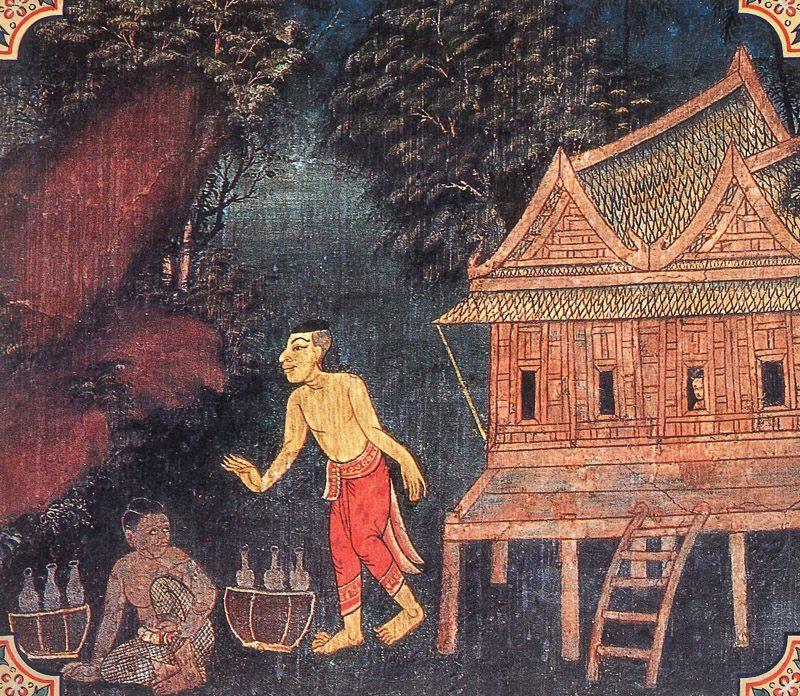painting of Varuni Jataka