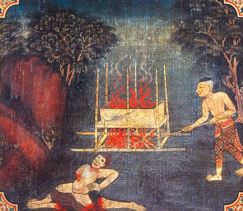 temple painting of Vedabbha Jataka