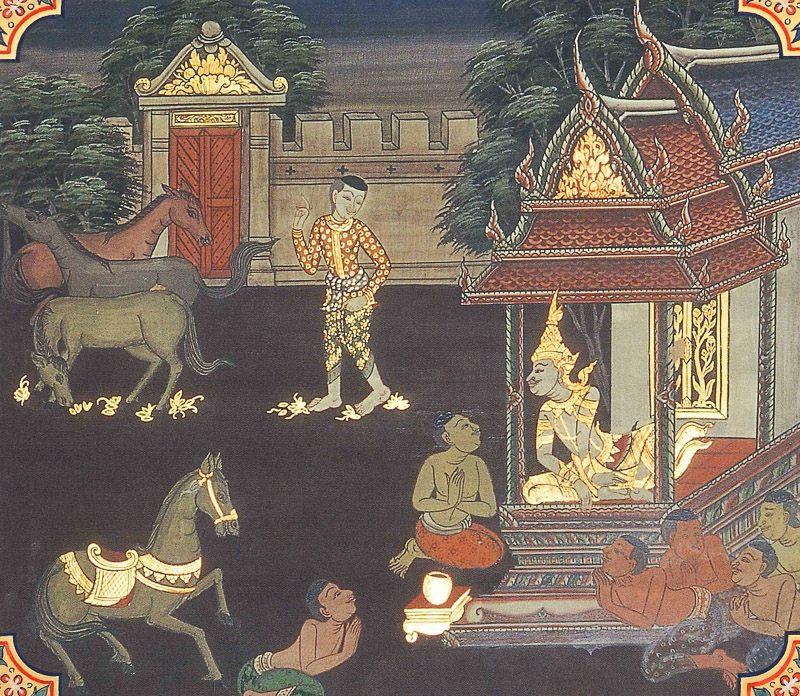 temple painting of Tandulanali Jataka