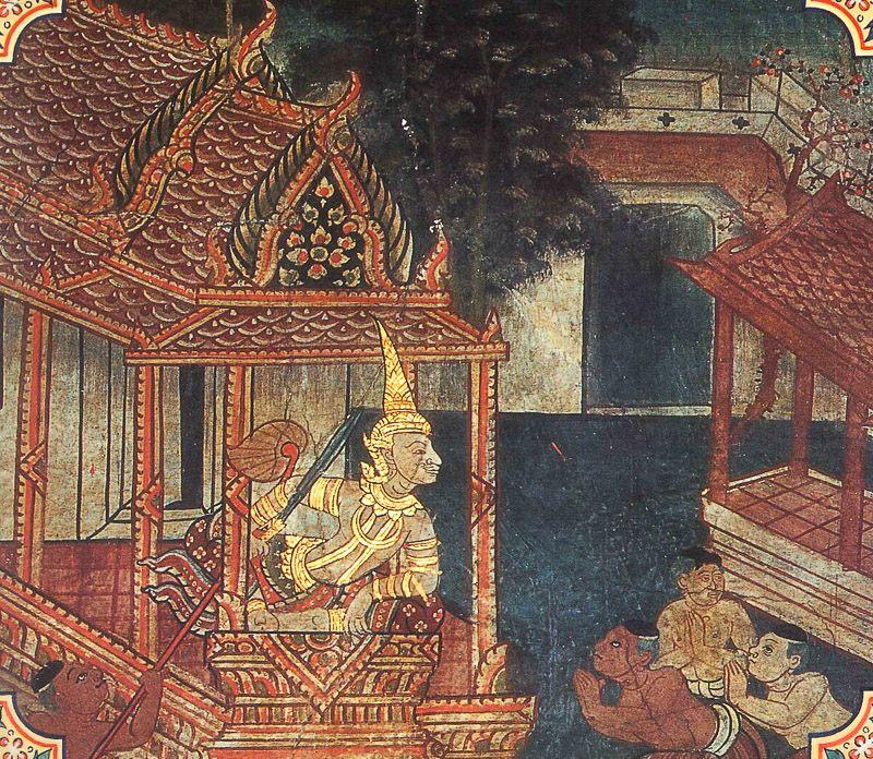 temple painting of Dummedha Jataka