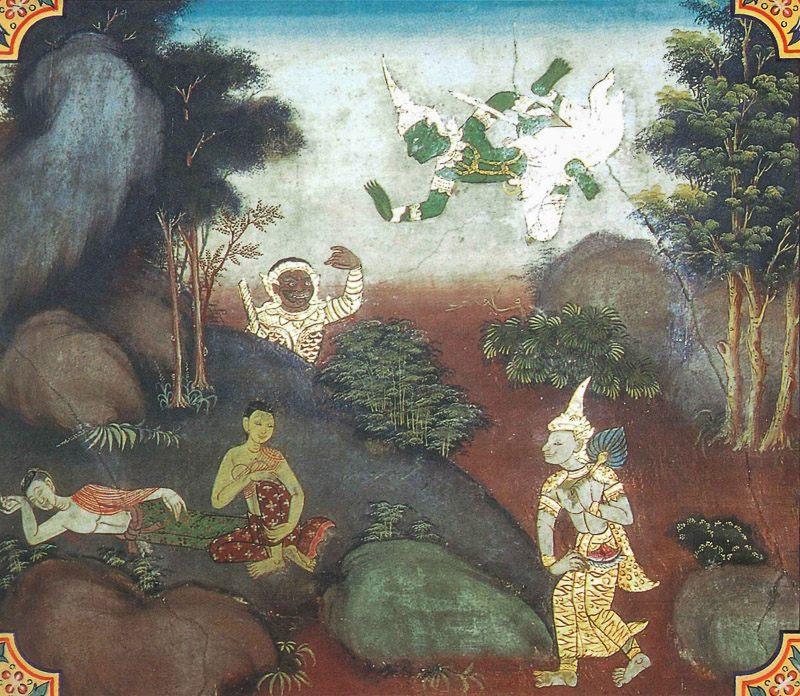 temple painting of Sambula Jataka