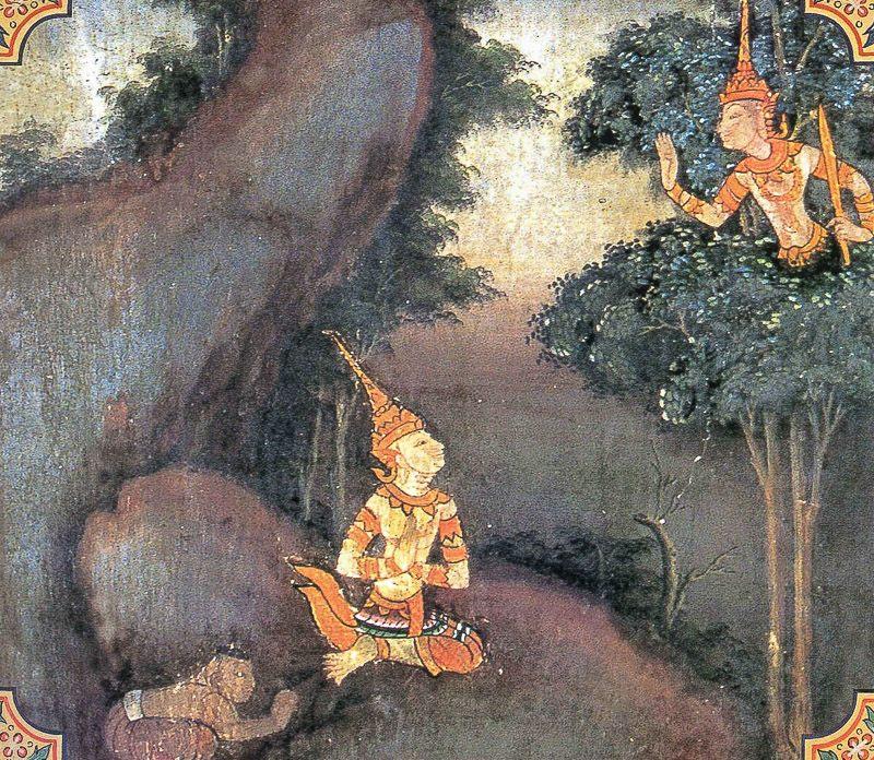 temple painting of Gandatindu Jataka