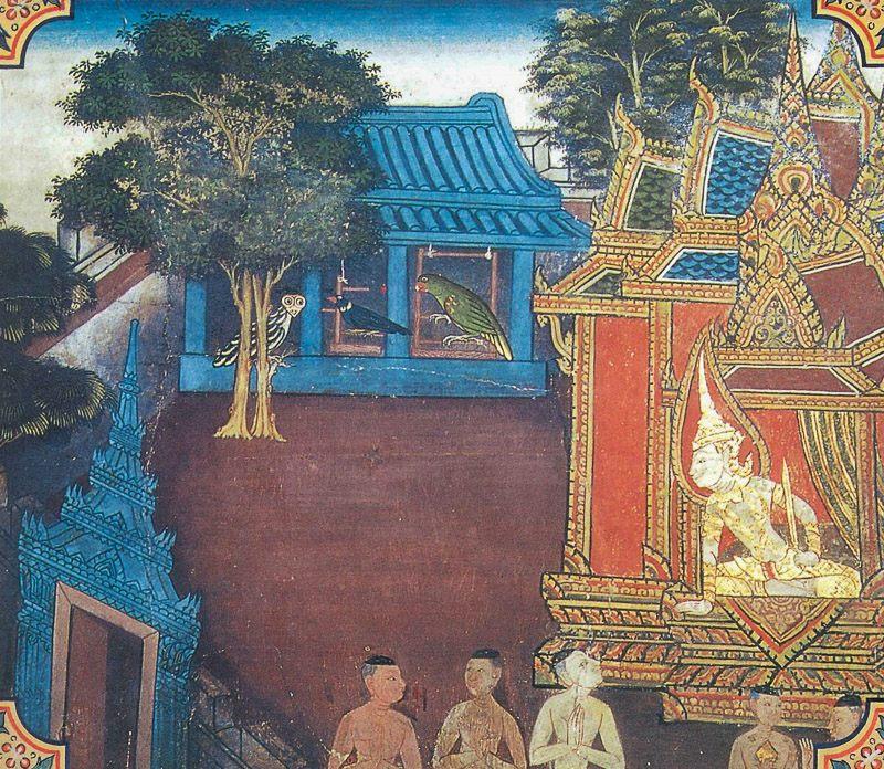 temple painting of Tesakuna Jataka