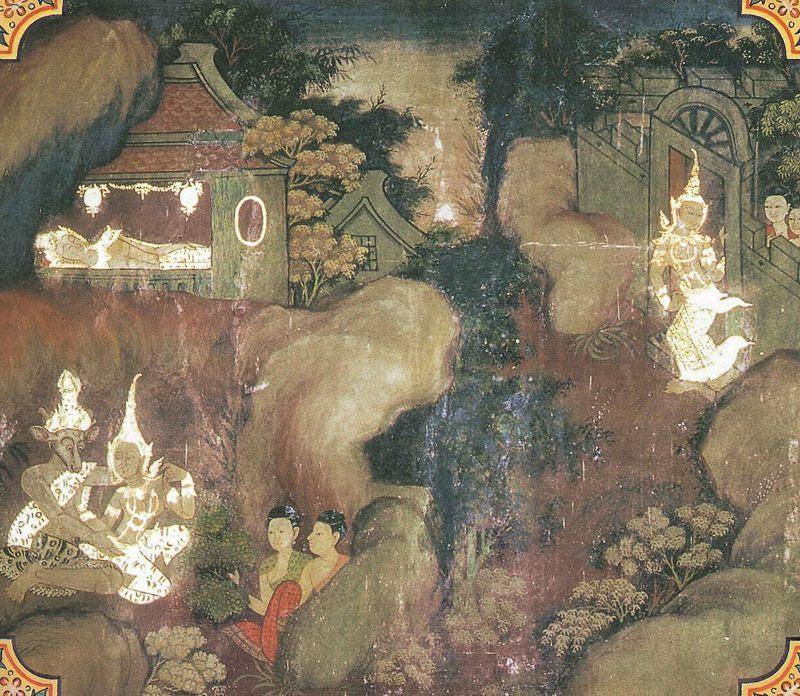 temple painting of Nalinika Jataka