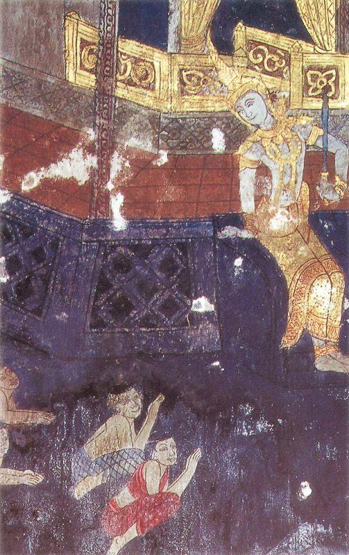 temple painting of Ummadanti Jataka