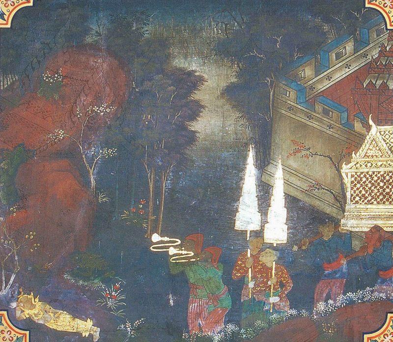 temple painting of Sonaka Jataka