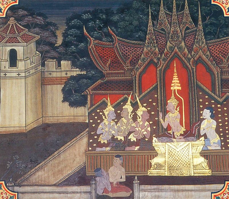 temple painting of Kusa Jataka
