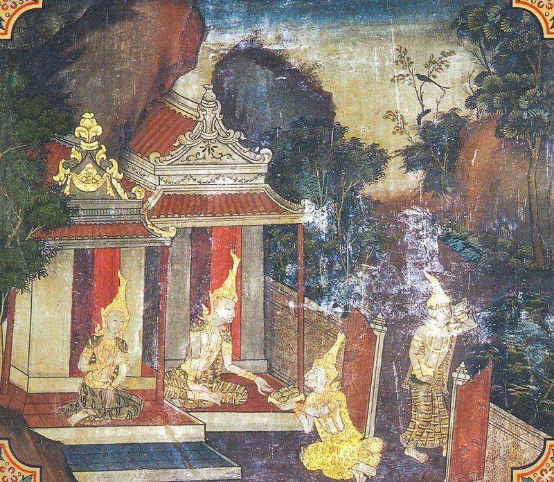 temple painting of Sona-Nanda Jataka