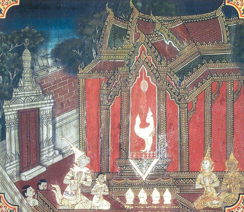 temple painting of Mahahamsa Jataka